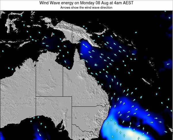Queensland Wind Wave energy on Friday 18 Apr at 10pm EST