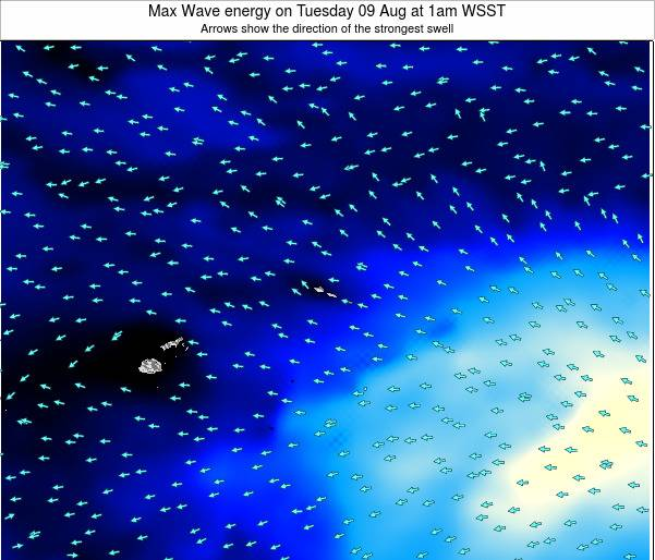 American Samoa Max Wave energy on Wednesday 29 May at 1am WST