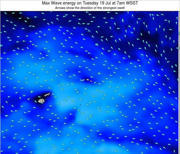 Samoa Max Wave energy on Wednesday 29 May at 1am WST