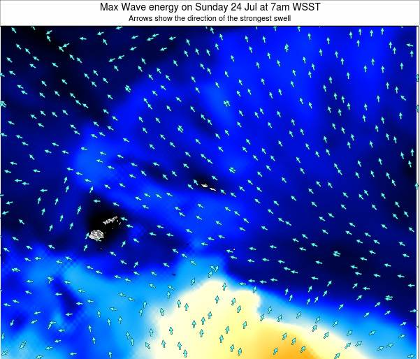 Samoa Max Wave energy on Friday 24 May at 1am WST