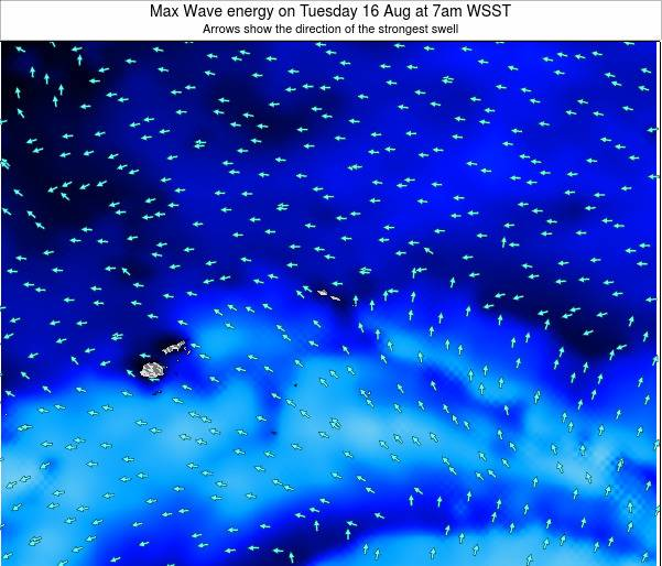American Samoa Max Wave energy on Friday 03 Apr at 2am WSDT