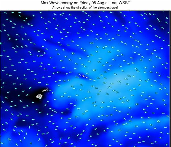 Samoa Max Wave energy on Tuesday 28 May at 7am WST