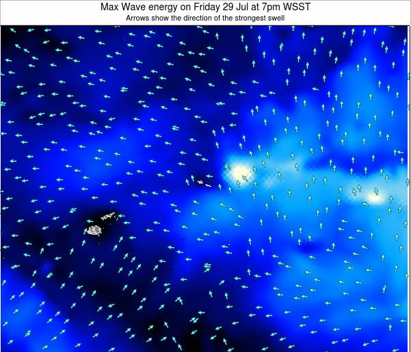 American Samoa Max Wave energy on Thursday 27 Oct at 8pm WSDT