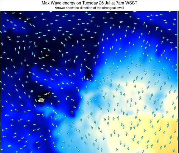 American Samoa Max Wave energy on Sunday 29 May at 7pm WSST