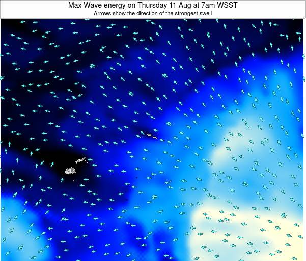 American Samoa Max Wave energy on Saturday 01 Jul at 7pm WSST