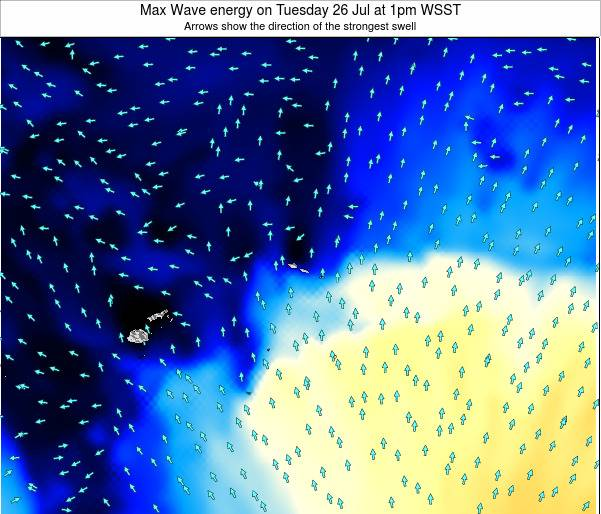 American Samoa Max Wave energy on Wednesday 01 Mar at 2pm WSDT