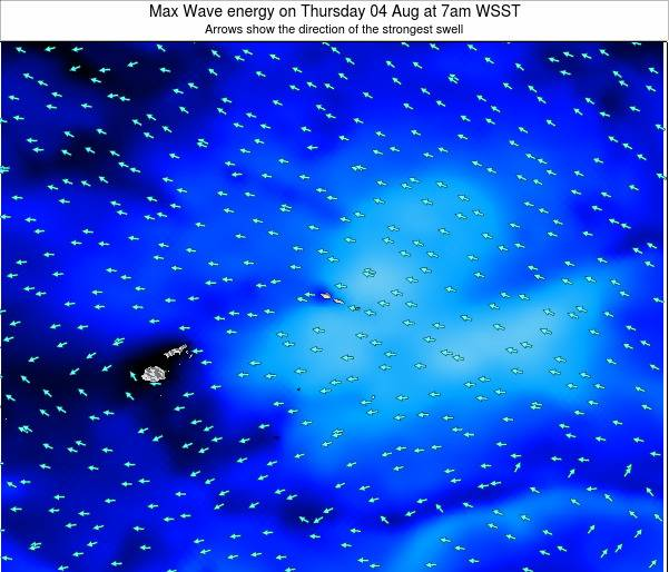 Samoa Max Wave energy on Friday 24 May at 7pm WST