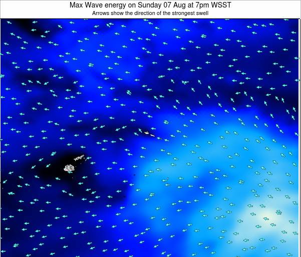 American Samoa Max Wave energy on Sunday 26 May at 7am WST