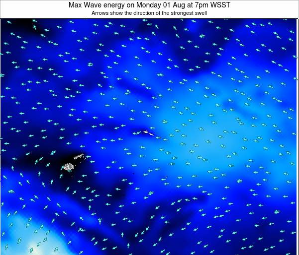 American Samoa Max Wave energy on Saturday 26 Apr at 1pm WST
