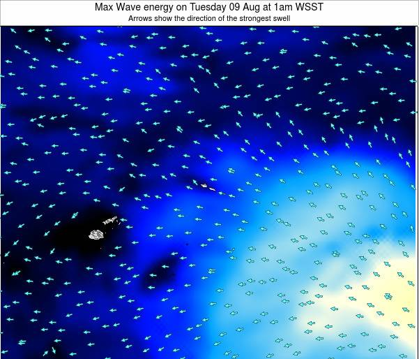 American Samoa Max Wave energy on Sunday 27 Jul at 7am WST