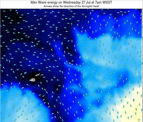 American Samoa Max Wave energy on Wednesday 29 Mar at 8pm WSDT