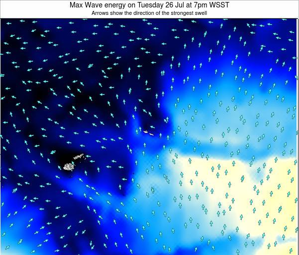 American Samoa Max Wave energy on Sunday 27 Apr at 7pm WST