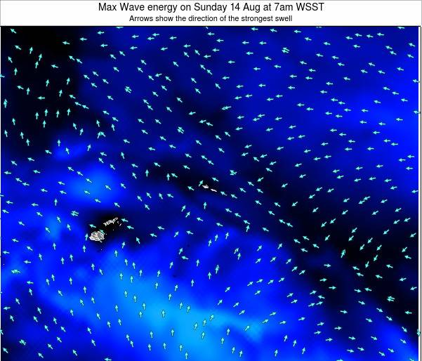 American Samoa Max Wave energy on Friday 01 Jul at 7pm WSST