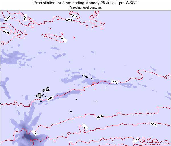 Samoa Precipitation for 3 hrs ending Thursday 30 May at 1pm WST
