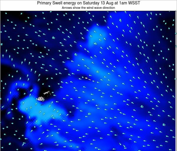 Samoa Primary Swell energy on Thursday 23 May at 7pm WST