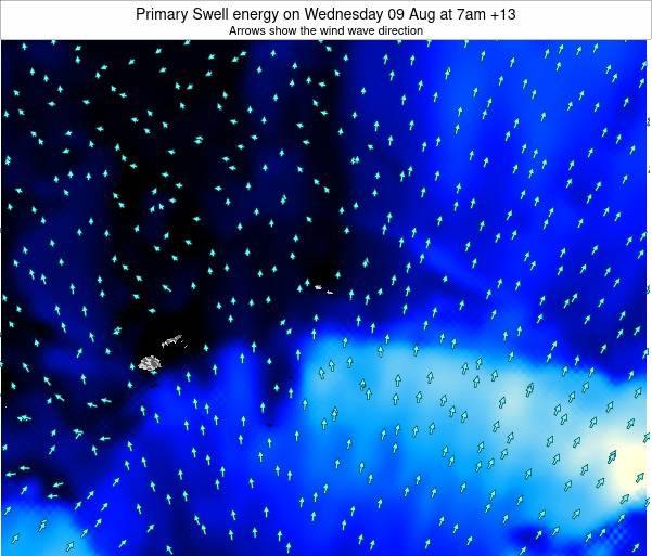 Samoa Primary Swell energy on Thursday 25 Oct at 8am WSDT map