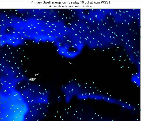 Samoa Primary Swell energy on Friday 19 Oct at 8pm WSDT map