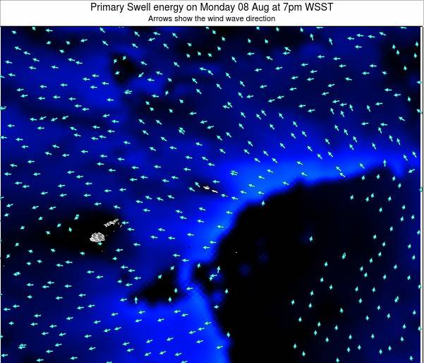 Samoa Primary Swell energy on Wednesday 29 May at 1am WST