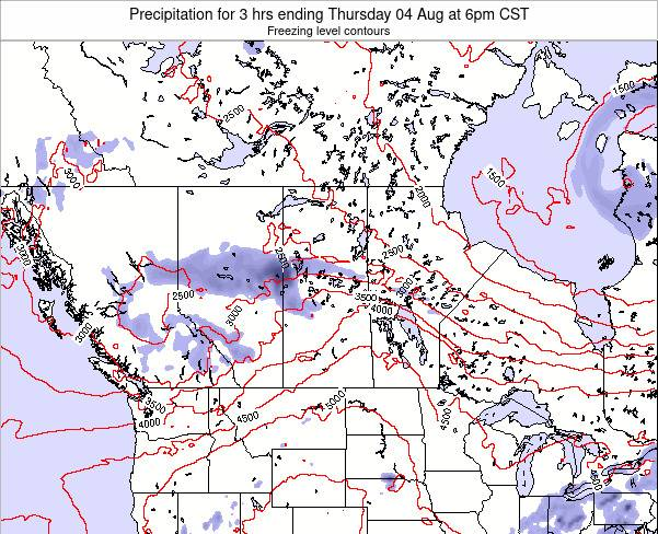 Saskatchewan Precipitation for 3 hrs ending Tuesday 21 May at 12pm CST map