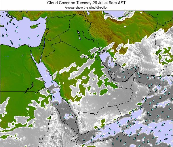 Oman Cloud Cover on Wednesday 07 Oct at 3pm AST