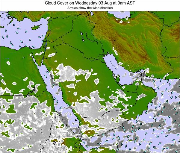 Oman Cloud Cover on Friday 27 Mar at 9am AST