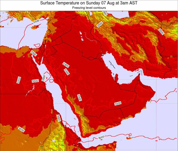 Oman Surface Temperature on Thursday 30 Oct at 3pm AST