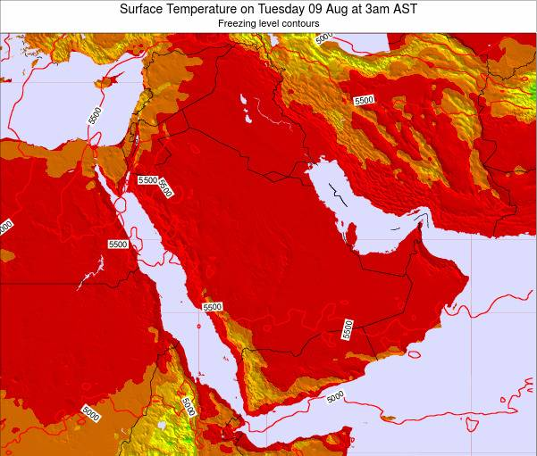 Oman Surface Temperature on Thursday 30 Oct at 9am AST