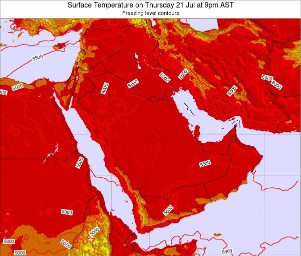Oman Surface Temperature on Thursday 12 Dec at 3am AST