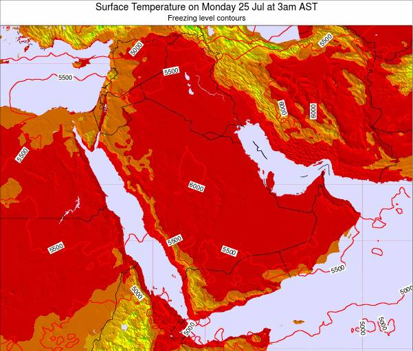 Oman Surface Temperature on Monday 10 Mar at 3pm AST