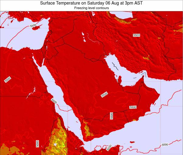 SaudiArabia Surface Temperature on Wednesday 14 Nov at 3pm AST map