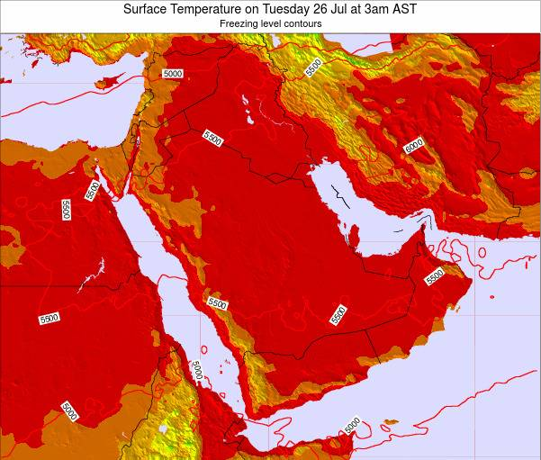 Oman Surface Temperature on Tuesday 28 Feb at 3pm AST