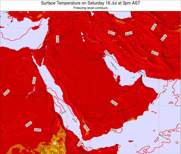 Oman Surface Temperature on Saturday 15 Mar at 9pm AST