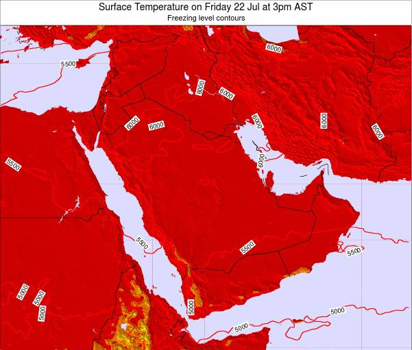 Oman Surface Temperature on Tuesday 29 Jul at 9am AST