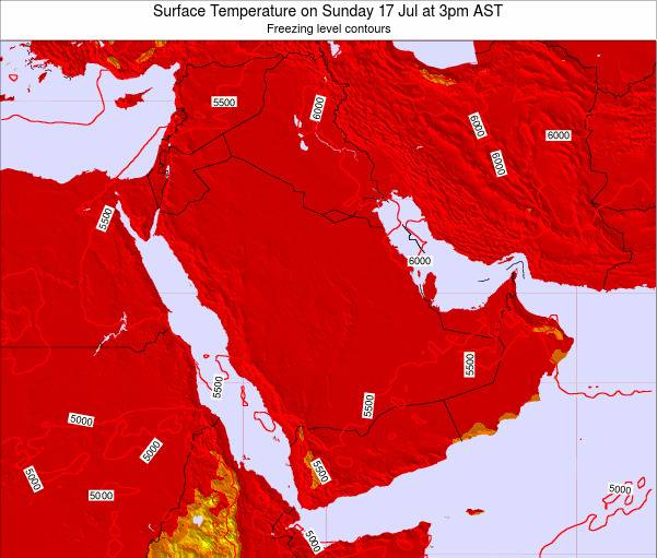 Oman Surface Temperature on Friday 27 Jan at 9pm AST