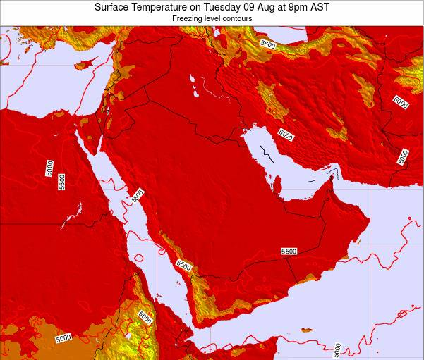 Oman Surface Temperature on Friday 29 Sep at 3am AST