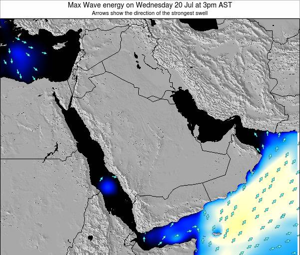 Kuwait Max Wave energy on Tuesday 05 Aug at 9am AST