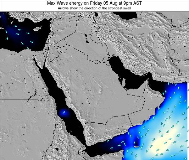 Kuwait Max Wave energy on Wednesday 25 Oct at 9pm AST