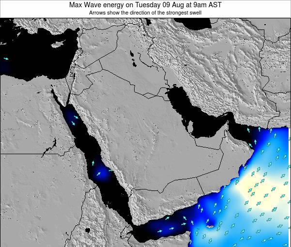 Kuwait Max Wave energy on Wednesday 30 May at 9am AST map