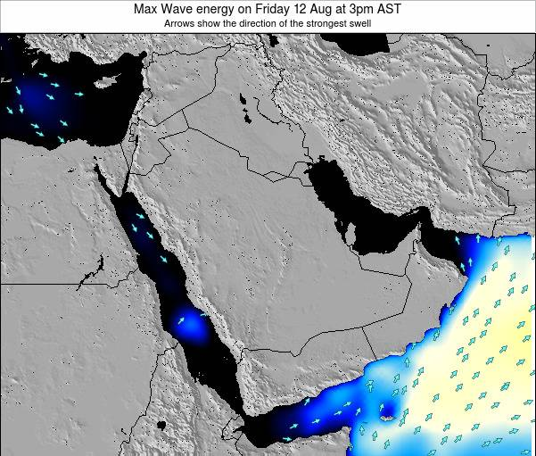 Kuwait Max Wave energy on Wednesday 12 Mar at 3am AST