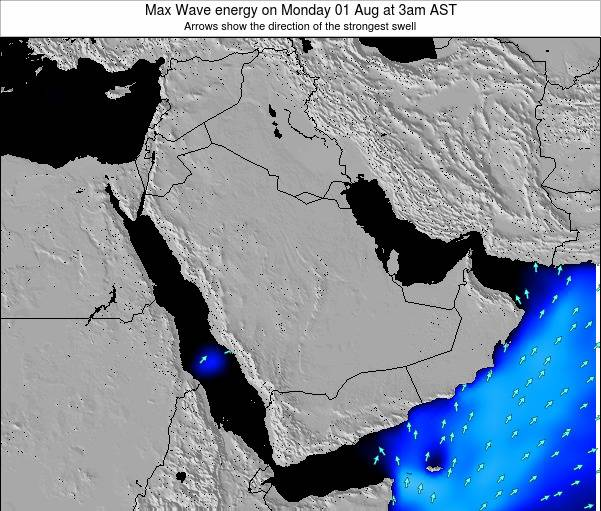 Kuwait Max Wave energy on Monday 24 Jun at 9am AST