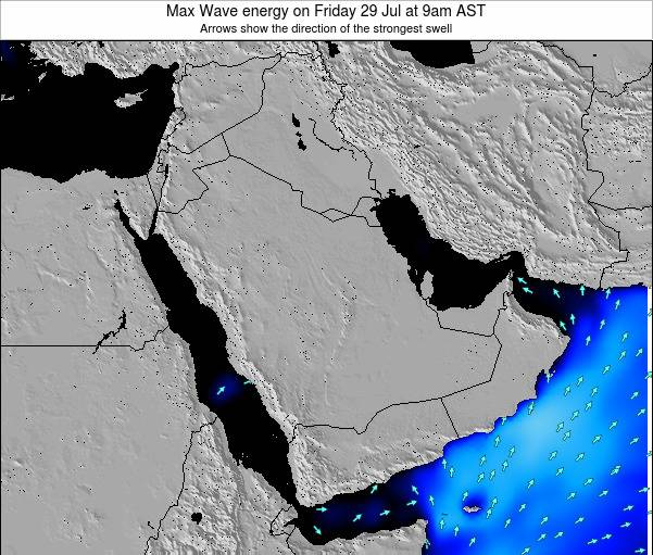 Kuwait Max Wave energy on Thursday 31 Jul at 3am AST