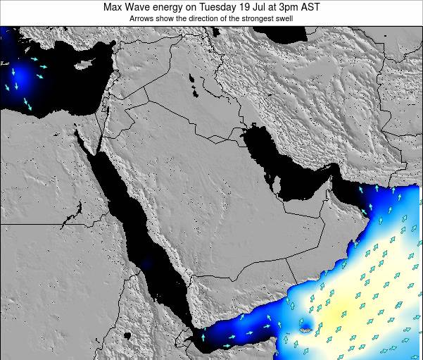 Kuwait Max Wave energy on Tuesday 06 Sep at 3am AST