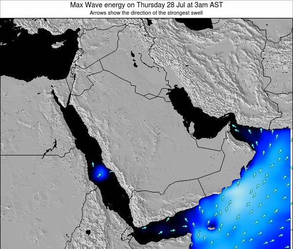Kuwait Max Wave energy on Wednesday 18 Dec at 9am AST