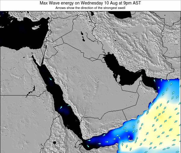 Kuwait Max Wave energy on Monday 21 Apr at 3pm AST