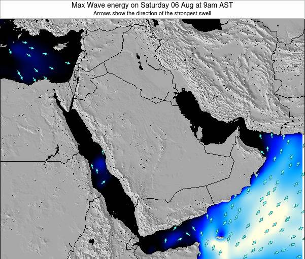 Kuwait Max Wave energy on Thursday 06 Nov at 3pm AST