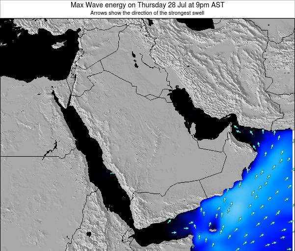Kuwait Max Wave energy on Friday 14 Mar at 9pm AST