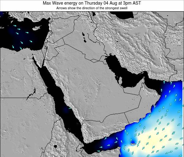 Kuwait Max Wave energy on Friday 31 May at 3am AST