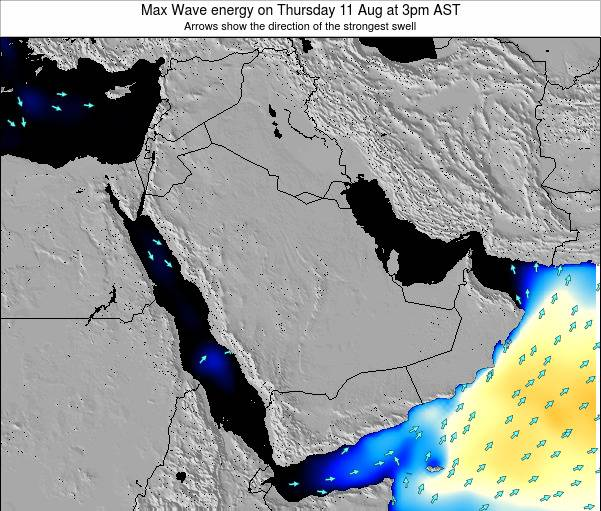 Kuwait Max Wave energy on Monday 22 Sep at 3am AST
