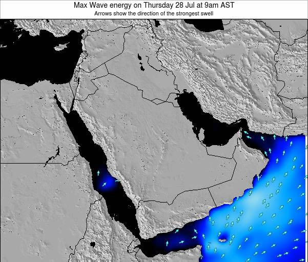 Kuwait Max Wave energy on Monday 29 Aug at 9am AST