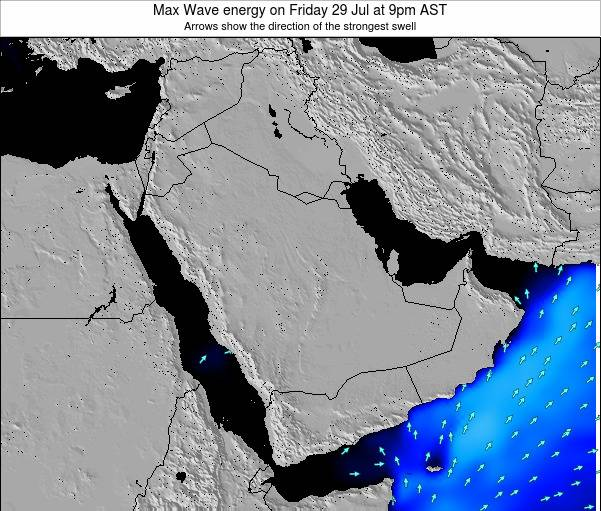 Kuwait Max Wave energy on Wednesday 14 Oct at 9pm AST